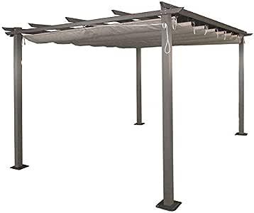 AGROFER Pérgola Aluminio 3x4 m. Techo corredero: Amazon.es: Hogar