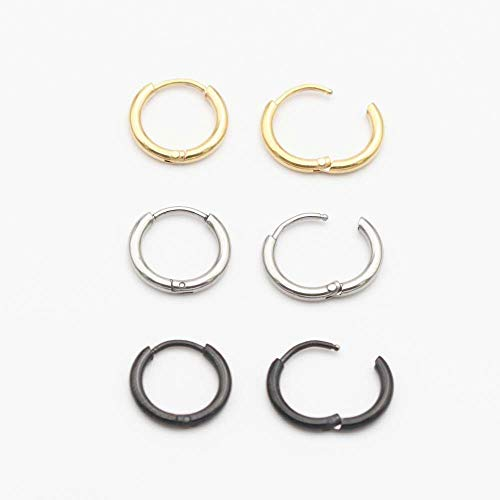 7ac304443ab8ed Humble Chic Simulated Druzy Threaders - Upside-Down Long Hoop Dangle Drop  Earrings for Women, Black, Simulated Onyx, Gold-Tone
