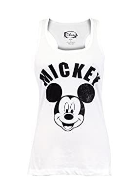 CITY DISNEY Mickey Mouse Racerback Basic Sleeveless Tank Top
