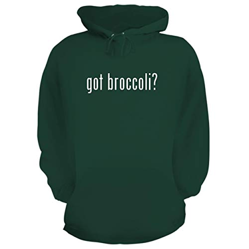 - BH Cool Designs got Broccoli? - Graphic Hoodie Sweatshirt, Forest, Small