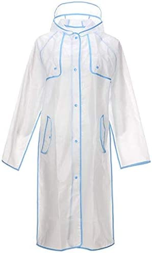 Ducomi Emily Imperm/éable Transparent pour Femme Poncho Pluie /à Capuche Translucide Cape de Pluie Raincoat