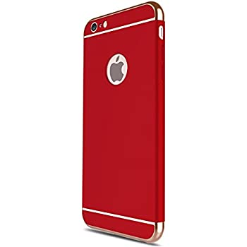 iPhone 6 /6S Plus 5.5 case, iBarbe Shockproof Scratch Protective Rubber Rugged Slim Hard Plastic 3 in 1 Case Cover (5.5 inches)-red