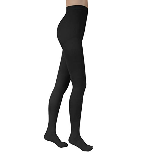 Pantyhose 30-40mmHg Compression Medical Stockings Health Firm Support Relief Pantyhose Closed Toe Women Leggings Varicose Veins (Black, L)