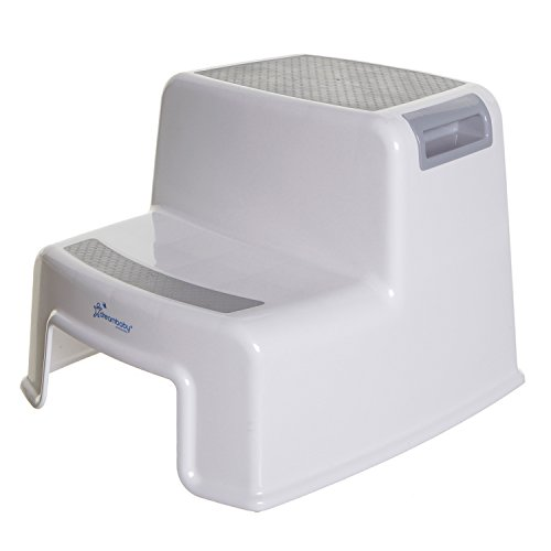 Dreambaby 2-Up Step Stool, Grey/White - Fixed Seat Counter
