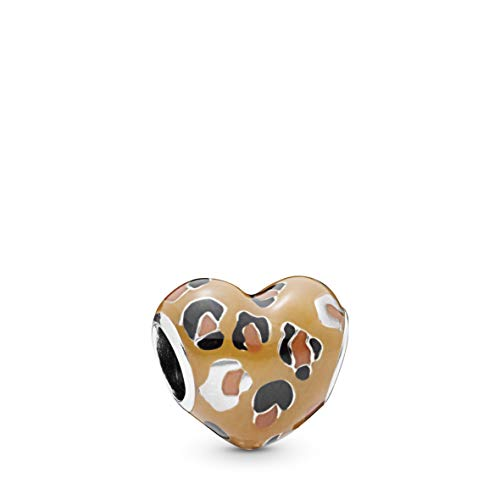 PANDORA Spotted Heart 925 Sterling Silver Charm - 798065ENMX
