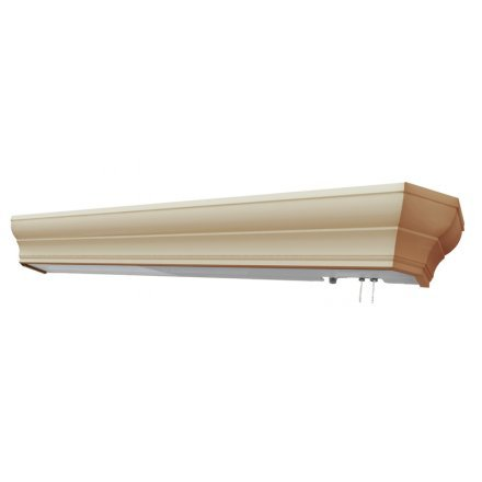 MSEC lights by AFX, HDB325PIE8, Traditional Crowned Hospital Overbed Light - Fluorescent- 25 watt - Ivory