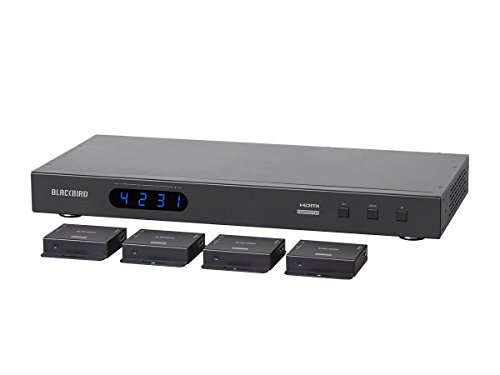 Monoprice Blackbird 4K 4x4 HDMI Matrix Extender with 4 Receivers, PoC, IR, EDID by Monoprice