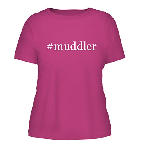 (#Muddler - A Nice Hashtag Misses Cut Women's Short Sleeve T-Shirt, Fuchsia, Large)