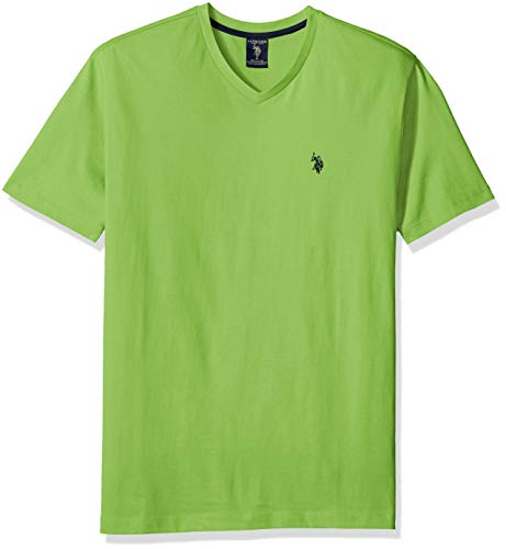 U.S. Polo Assn. Men's V-Neck T-Shirt, Summer Lime, L by U.S. Polo Assn.