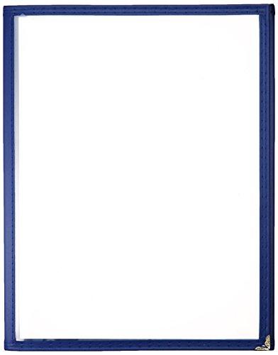 Winco Triple Fold Menu Cover, 12-Inch x 9.5-Inch, Blue
