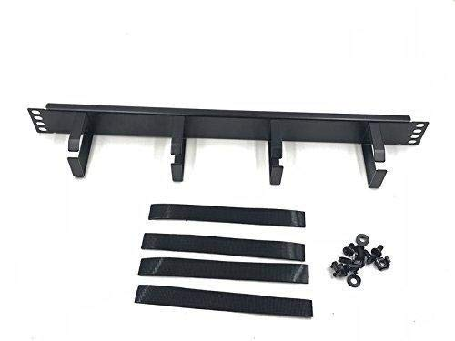 Raising Electronics1U Horizontal Rack Mount Metal Cable Management with 4 Ring