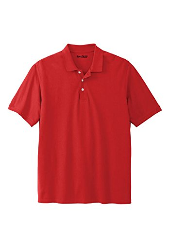 KingSize Men's Big & Tall Pique Polo Shirt, Harbor Red (Polo Red Sweatshirt)