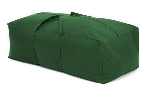 Gardenista GREEN Outdoor Garden Cushion Storage Bag in Premium Heavy Duty Waterproof Canvas. Made in the UK.