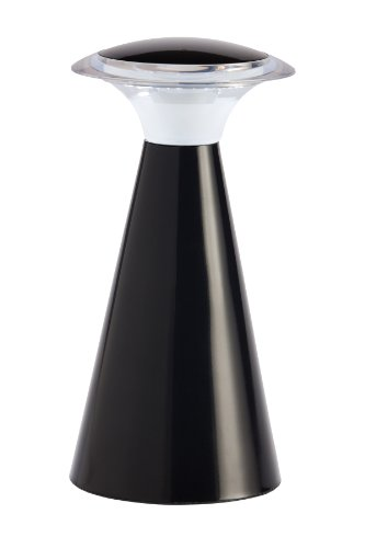 Light It! By Fulcrum, Lanterna, Wireless LED Touch Lamp, Battery Powered Black