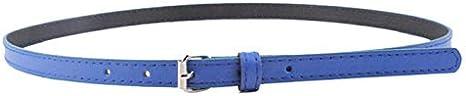 Cebbay Cinturon de Mujer Correa Delgada de la PU de Las Mujeres Elegantes de la Moda de Cuero Sección Delgada con cinturón Fino y cinturón Estrecho