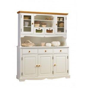 Schöne Möbel nicht zu erinnern, Sideboard Highboard weiß und Honig 5-Türer