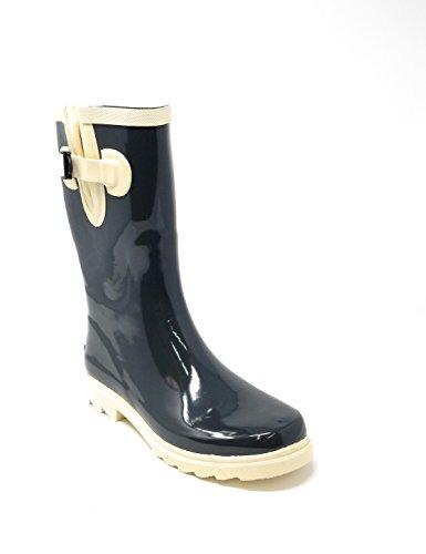 - Women Rubber Rain Boots Mid-Calf 11