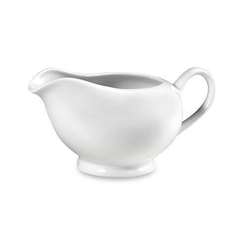 Everyday White Gravy Boat made of Porcelain by Fitz and Floyd
