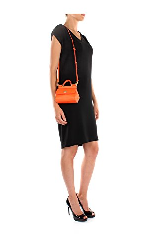 Borse a Mano Dolce&Gabbana Donna Pelle Mandarino e Oro BB5999A10018H204 Arancio 8x11x15 cm