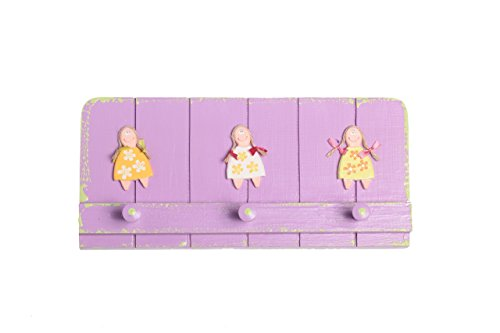 Girls Wooden Wall Hooks Child Room Decor Nursery