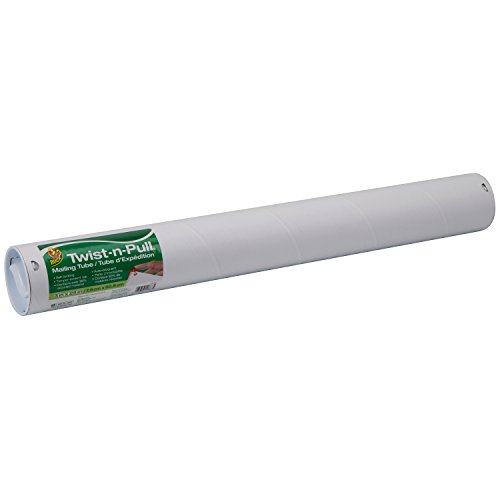 (Duck Brand Twist-n-Pull Tamper-Evident Mailing Tube, 3 x 24 Inches, White (1163120))