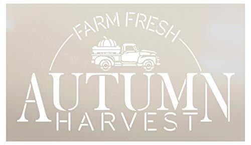 - Farm Fresh Autumn Harvest with Vintage Pumpkin Truck Stencil by StudioR12 | Paint Signs | Word Art Reusable | Family Dining Room | Paint Chalk Mixed Media Multi-Media | DIY Home - Choose (6
