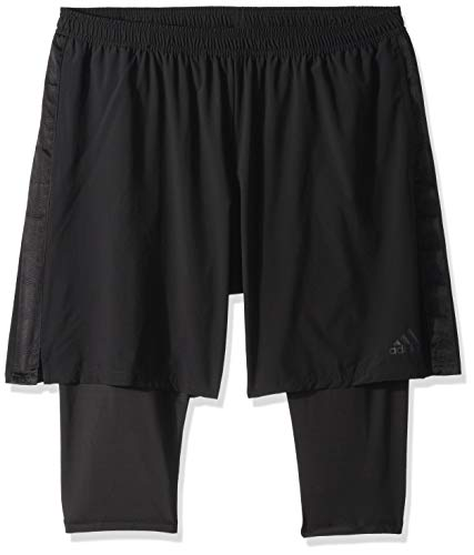 adidas Men's Soccer Tango Player 2-in-1 Short, Black, X-Large