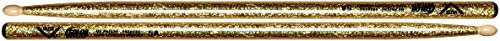 Vater Percussion Color Wrap 5A Drumsticks, Gold Sparkle, Wood Tip