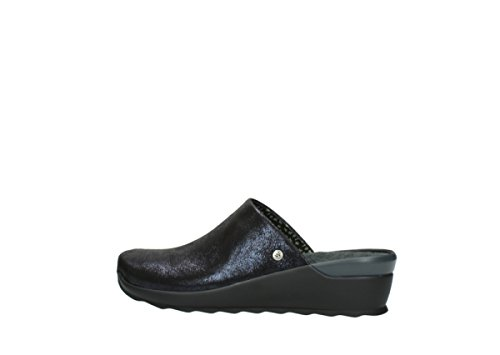 Zapatos Up comodidad nbsp;Pima Blue Wolky Lace Metallic 60801 Leather 01510 6xfqpOt