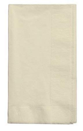 100 Ivory Dinner Napkins for Wedding, Party, Bridal or Baby Shower, Disposable Bulk Supply Quality Product (Ivory) by Creative Converting Touch of Color