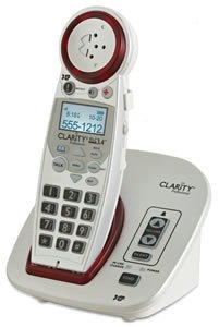 New Extra Loud Cordless Phone Dect 50  Db Illuminated Talking Dial Pad Clear Speakerphone By Clarity