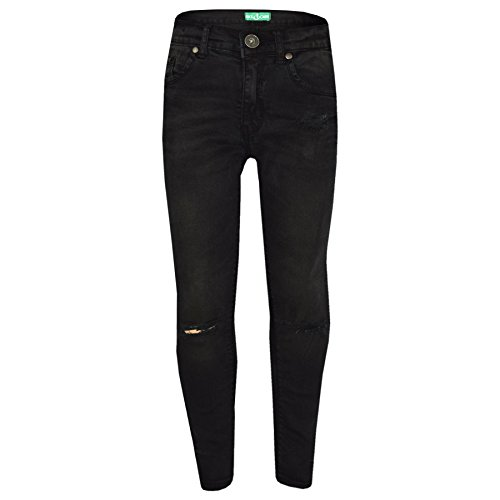 Girls Stretchy Jeans Kids Black Denim Ripped Pants Frayed Trousers Age 5-13 Year by A2Z 4 Kids (Image #3)