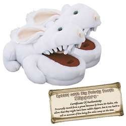 (Toy Vault Rabbit with Big Pty Teeth Slippers--Fits Ages 14+)
