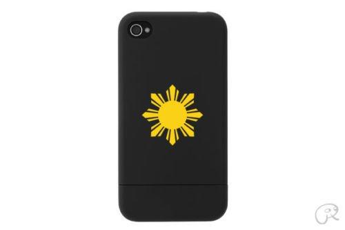 (2x) Philippines Sun - Filipino - Cell Phone Sticker - Mobile - Sticker - Decal - Die Cut