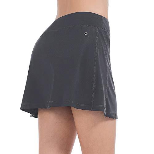 (ZEALOTPOWER Tennis Skorts for Women with Pockets Sports Black Golf Skirts Running Athletic Summer)