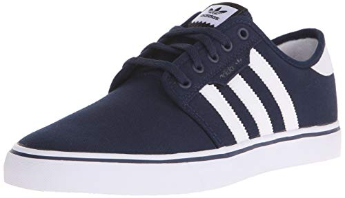 adidas Men's Seeley Skate Shoe,Collegiate Navy/White/Blue,11 M US