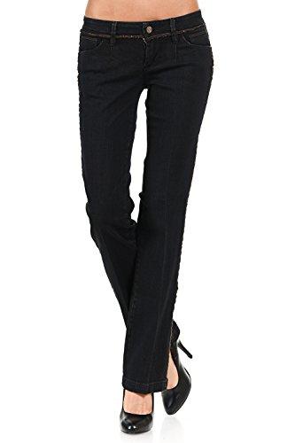 VIRGIN ONLY Women's Classic Fit Bootcut Jeans (Antique Black, - Size 3 Junior