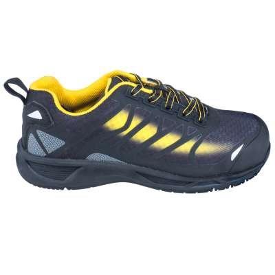 Nautilus Shoes Men's N2436 Black/Yellow Composite Toe ESD Athletic Shoes