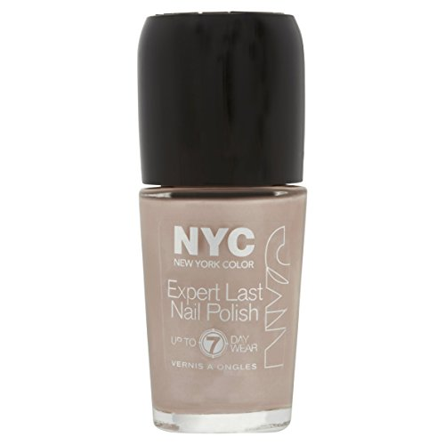 NYC Expert Last Nail Polish, up to 7 day wear, 215 Late Night Latte, 0.33 fl oz (7 Day Nail Polish)