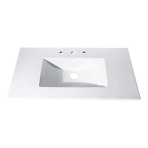 hot sale 2017 American Standard 7820.400.020 Newbern Vanity Top With Integral Bowl, Fits Most Standard 30 Vanities, Seamless, White, 4-Inch