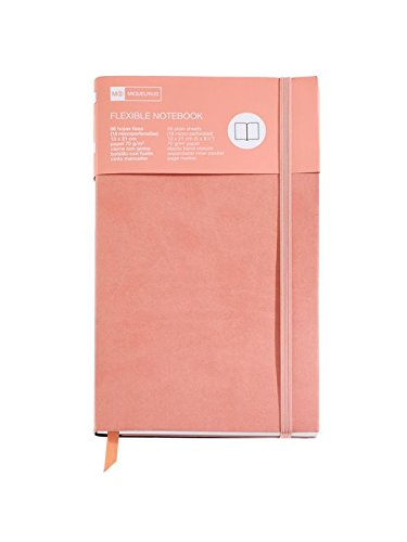 Miquelrius 1131 – Notebook Flexible Book Plain With Rubber Salmon Nordic (Flexible Salmon)