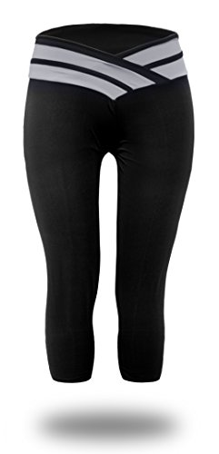 Unilove Tights Active Yoga Pants for Workout Fitness Running Sports Leggings for Women (XL,Grey)