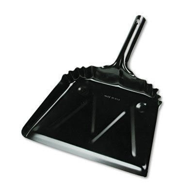 UNISAN Metal 12' Dustpan, Wide, Black (03000)