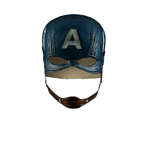 Captain America Mask,Captain America Helmet,Captain America Hat Mask Helmet Cosplay Props Blue ()