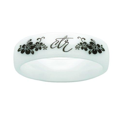 Sud - blanco cerámica 3 mm Heavenly flores CTR elegir el derecho Anillo para niñas - para mujer CTR Anillo, las niñas CTR Anillo: Amazon.es: Joyería