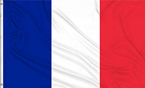 - Aimto 3x5 Foot France Flag - Nicely Stitched and Vivid Bright Color - French National Flags Indoor & Outdoor