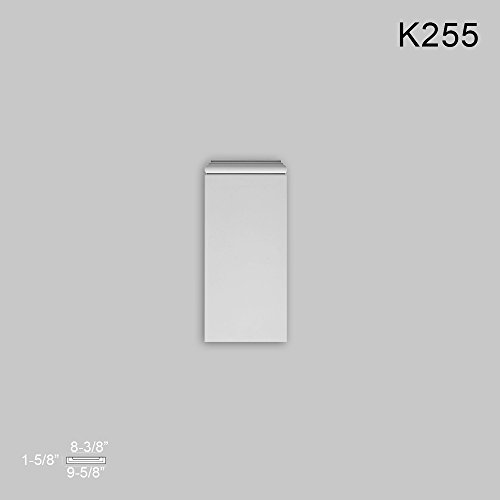 Orac Decor Plinth Block for K220 K255 Plinith Block for K220, Primed White. Width: 9-5/8