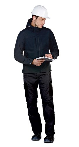 B&C Softshell Hooded Jacket Men BCJM950 / Farbe: Black /Größe: S