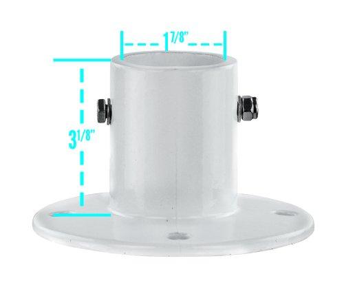 [Aluminum Slide Deck Flange Set of 4 with Concrete Anchor Kit] (Anchor Flange)