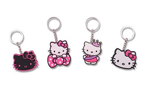 FINEX Set of 4 Hello Kitty Keychain for Backpack School Bag Handbag Tote Daypack - Random
